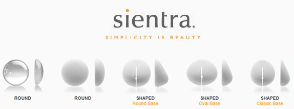 Sientra breast implant shapes